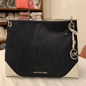Michael Kors Nicole Dark Denim Medium Shoulder Bag
